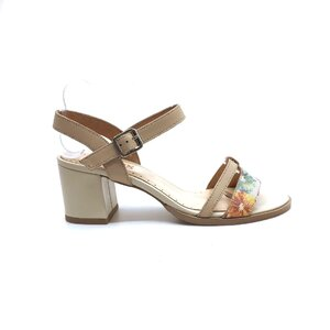 Sandale dama elegante din piele naturala -127-2 Nude Flori Box