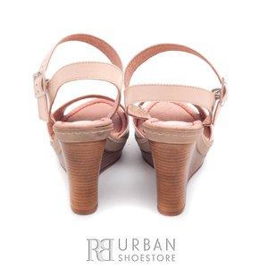 Sandale cu platforma dama din piele naturala - 034 bej