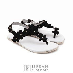 Sandale din piele naturala intoarsa, pentru copii – tina negru