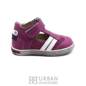 Sandale copii din piele naturala, Leofex – 119 roz box nabuc