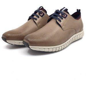 Pantofi sport-casual din piele naturala - 942* Taupe