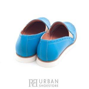 Balerini din piele naturala - 023 albastru