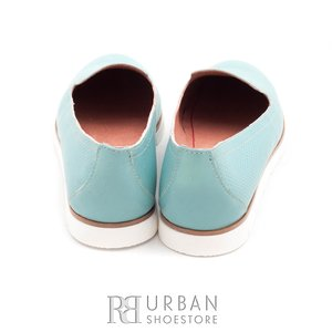 Balerini din piele naturala - 024-B19 albastru