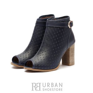 Botine dama de vara perforate - 007 Blue Box