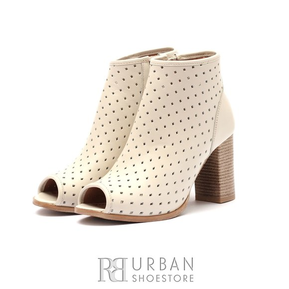 Botine dama de vara perforate - 008 Bej box