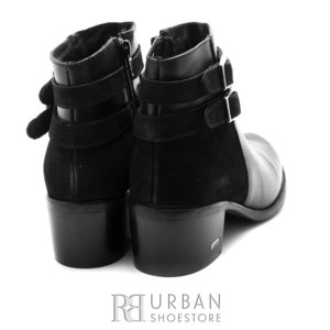 Botine elegante din piele naturala - 376 Negru Box