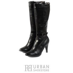Cizme elegante din piele naturala - 635 negru