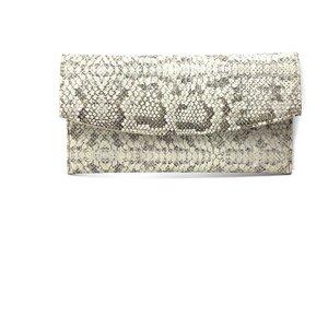 Geanta plic eleganta din piele naturala - Auriu Croco