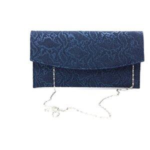 Geanta plic eleganta din piele naturala - Blue Croco