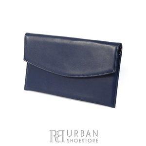 Geanta plic eleganta din piele naturala pentru dame - blue