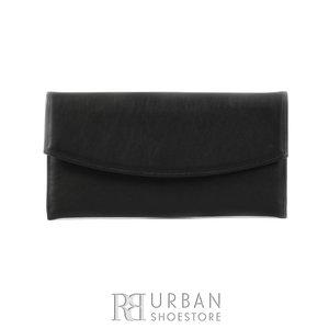 Geanta plic eleganta din piele naturala pentru dame - negru