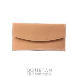 Geanta plic eleganta din piele naturala pentru dame - nude