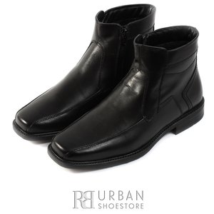 Ghete casual din piele naturala pentru barbati - 575 negru