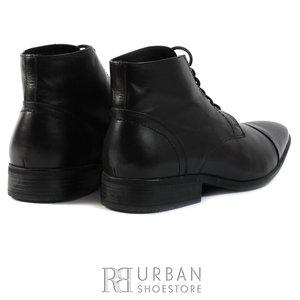 Ghete casual din piele naturala pentru barbati - 586 negru