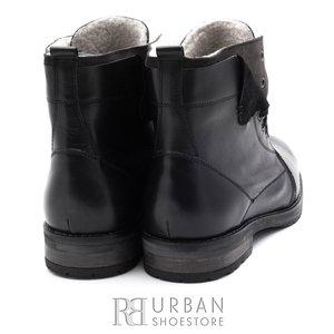Ghete casual din piele naturala pentru barbati - 809 negru
