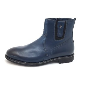 Ghete casual din piele naturala pentru barbati - 859 blue box