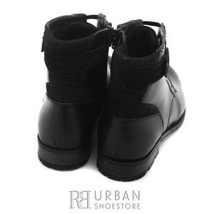 Ghete casual din piele naturala pentru barbati - 863 negru