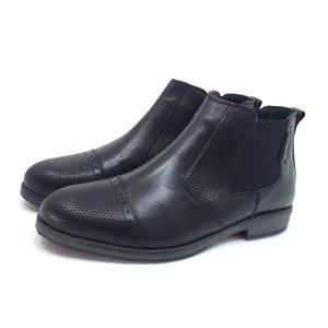 Ghete casual din piele naturala pentru barbati - 867 Negru Box