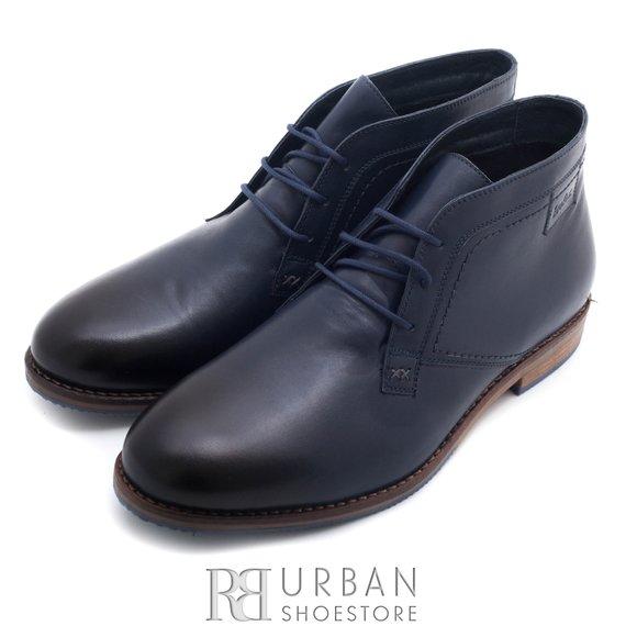 Ghete casual din piele naturala pentru barbati - 869 blue