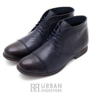Ghete casual din piele naturala pentru barbati - 870* blue