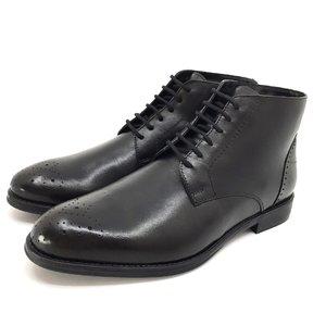 Ghete casual din piele naturala pentru barbati- 976 Negru Box