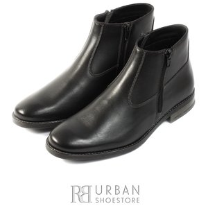Ghete casual-elegant din piele naturala pentru barbati - 720 negru