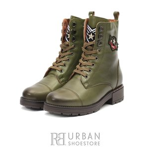 Ghete dama casual-military din piele naturala - 505 Verde Box