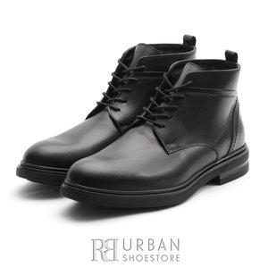 Ghete din piele naturala pentru barbati Leofex - 983 Negru Box