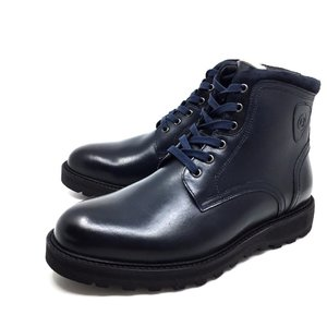 Ghete din piele naturala pentru barbati Leofex - 991 Blue