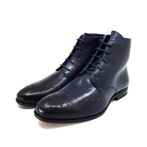 Ghete elegante din piele naturala pentru barbati - 910 Blue