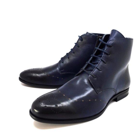 jumatate din cel mai bun preț Statele Unite Ghete elegante din piele naturala pentru barbati - 910 Blue
