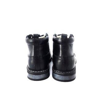 Ghete scurte din piele naturala pentru barbati - 957 Negru Box