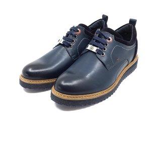 Pantofi barbati casual din piele naturala- 969 Blue Box