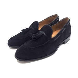 Pantofi barbati casual-eleganti din piele intoarsa -922-1 Blue Velur
