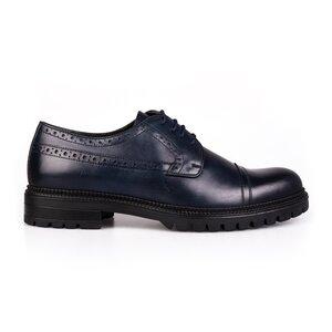 Pantofi barbati din piele naturala Leofex - 1000 Blue Box