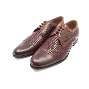 Pantofi barbati eleganti din piele naturala - 524 Maro Box