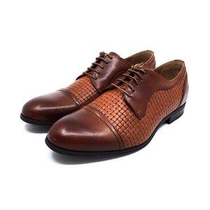 Pantofi barbati eleganti din piele naturala - 525 Cognac Box