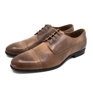 Pantofi barbati eleganti din piele naturala Leofex- 510-1 Taupe Box
