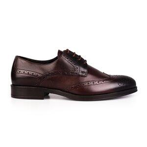 Pantofi barbati eleganti din piele naturala Leofex-516 Mogano Box