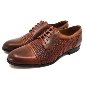 Pantofi barbati eleganti din piele naturala Leofex- 525 Cognac Box