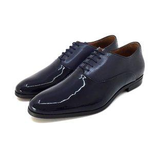 Pantofi barbati eleganti din piele naturala Leofex- 526 Blue Box Lac