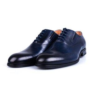 Pantofi barbati eleganti din piele naturala Leofex-581 Blue Box