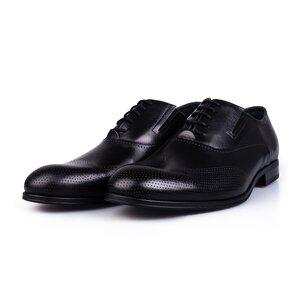 Pantofi barbati eleganti din piele naturala Leofex-581 Negru Box
