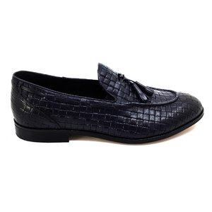 Pantofi barbati eleganti din piele naturala Leofex - 588 Blue Box Presat