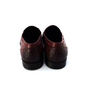 Pantofi barbati eleganti din piele naturala Leofex - 588  Visiniu