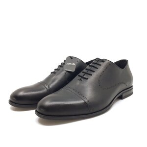 Pantofi barbati eleganti din piele naturala Leofex- 934-1 Negru Box