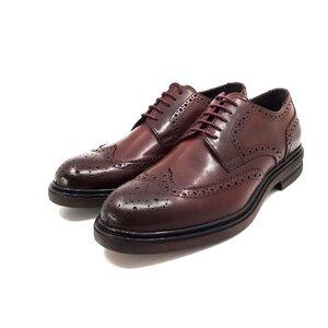 Pantofi barbati eleganti din piele naturala Leofex- 996 Visiniu Box