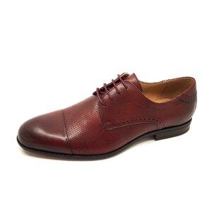 Pantofi barbati eleganti din piele naturala Leofex-Mostra Carol Visiniu Box