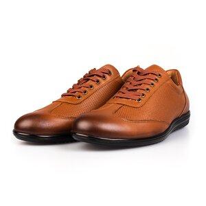Pantofi barbati sport din piele naturala Leofex-518 Coganc Box