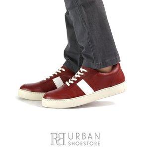 Pantofi barbati sport din piele naturala Leofex - 523 Rosu Box